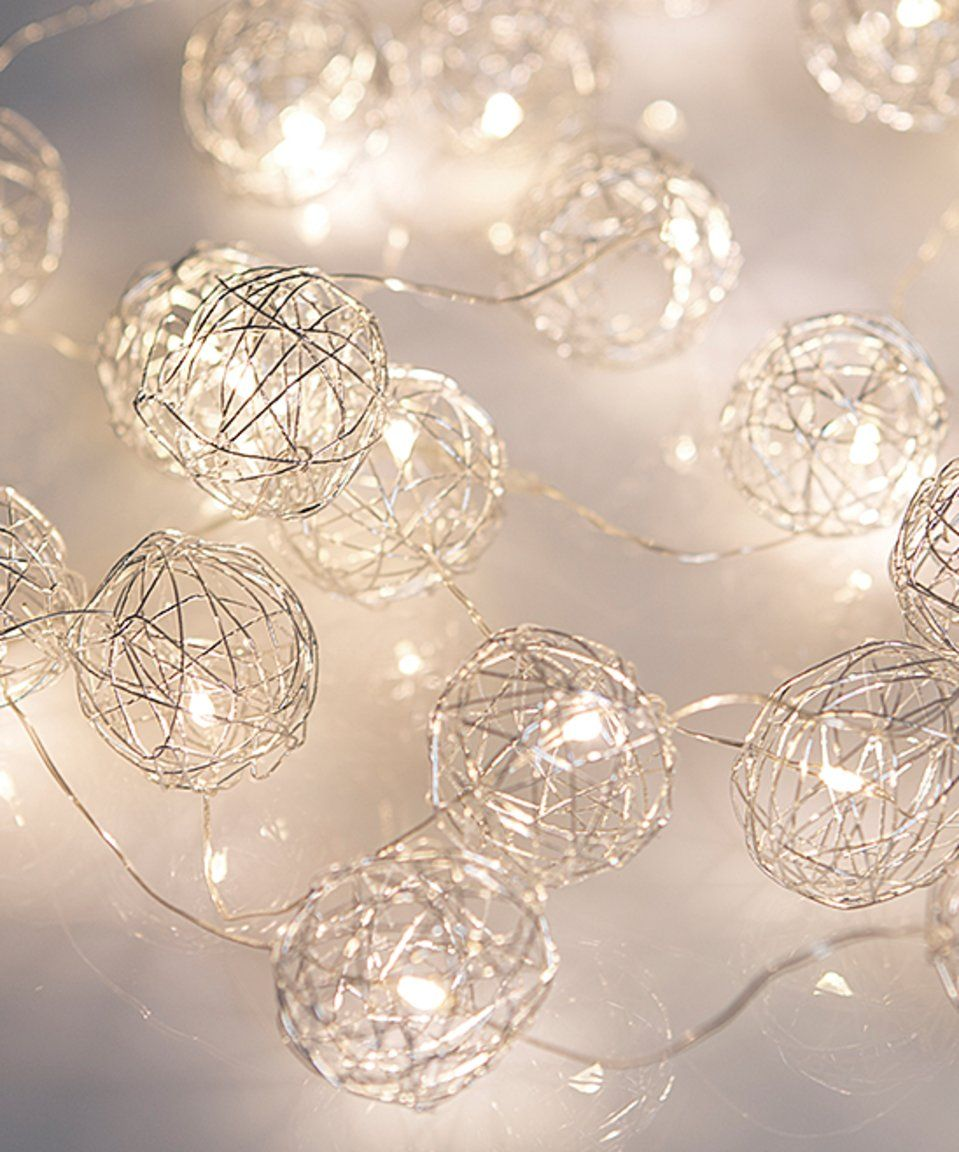 Look at this #zulilyfind! Boutique Home Silver LED Wire Wrap String ...