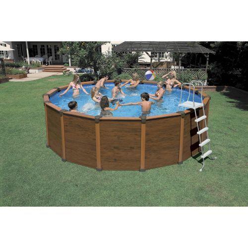 Intex 174 16 X 48 Quot Round Wood Grain Panel Pool Outdoor Pool