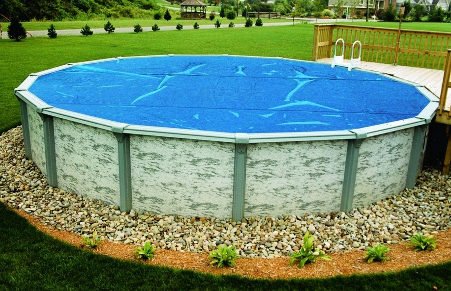 Stylish Above Ground Pool Landscaping