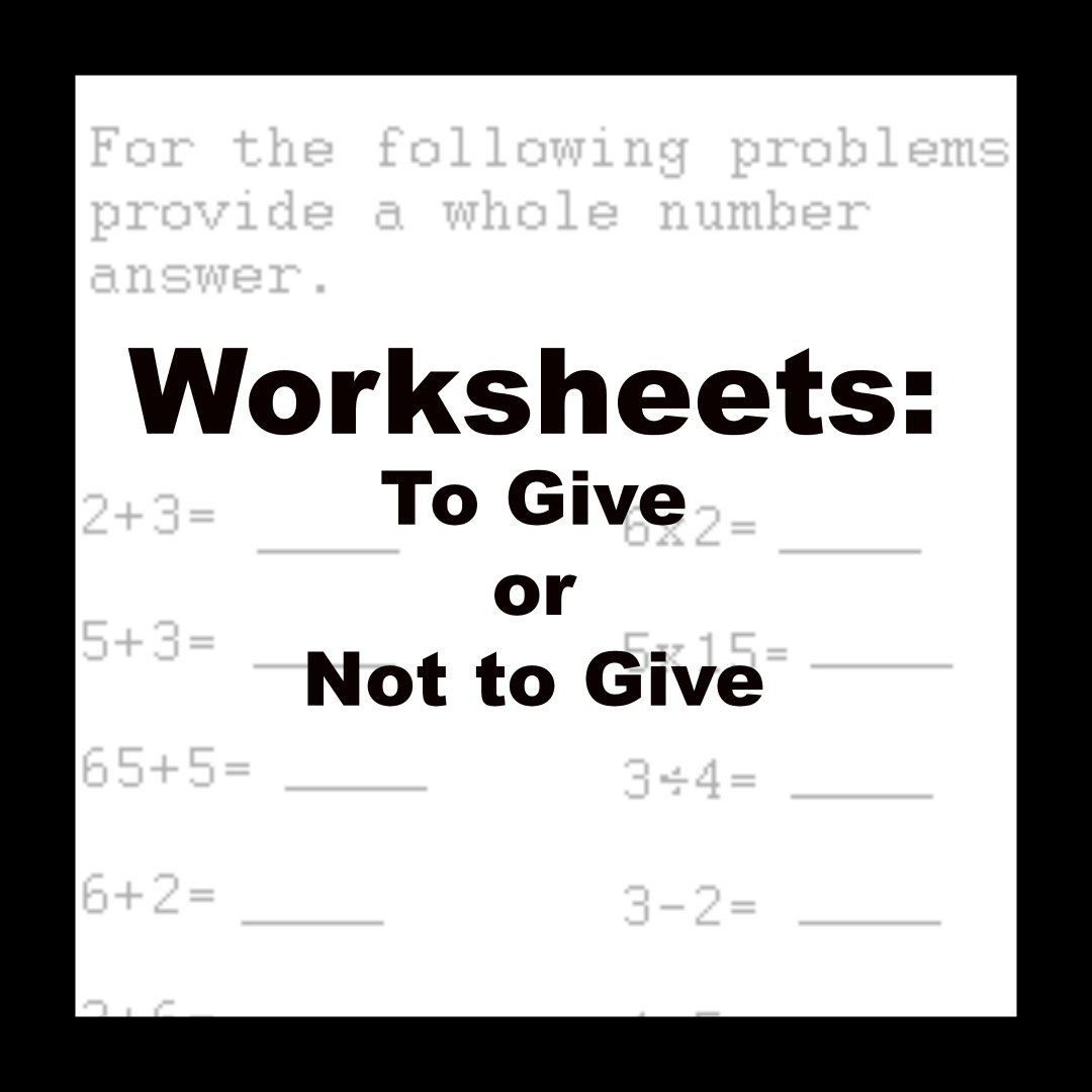 Worksheets To Give Or Not To Give