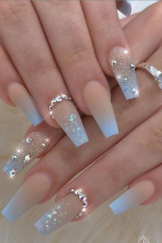20 Ombre Acrylic Nails Acrylic Nail Ideas Coffin Nail Ideas In 2020 Ombre Acrylic Nails Coffin Nails Designs Nails