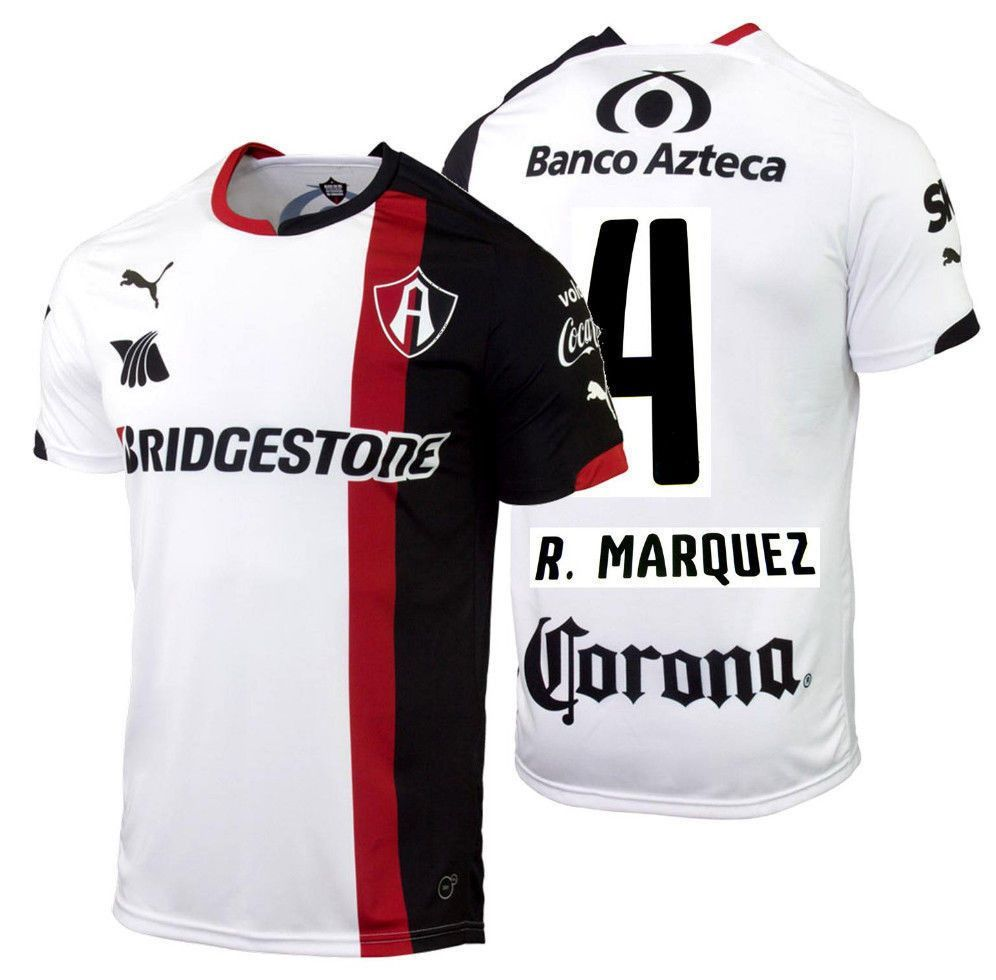 6d92bfcc595 Puma rafael marquez atlas de guadalajara away jersey 2014 15 ...