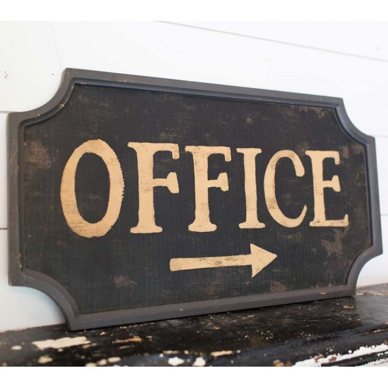 Wooden Decor Signs Extraordinary Actual* Office Sign Add A Vintage Touch To Your Office Space Inspiration