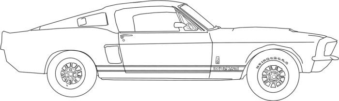 Mustang Classic Coloring Page Cars Coloring Pages Car Drawings