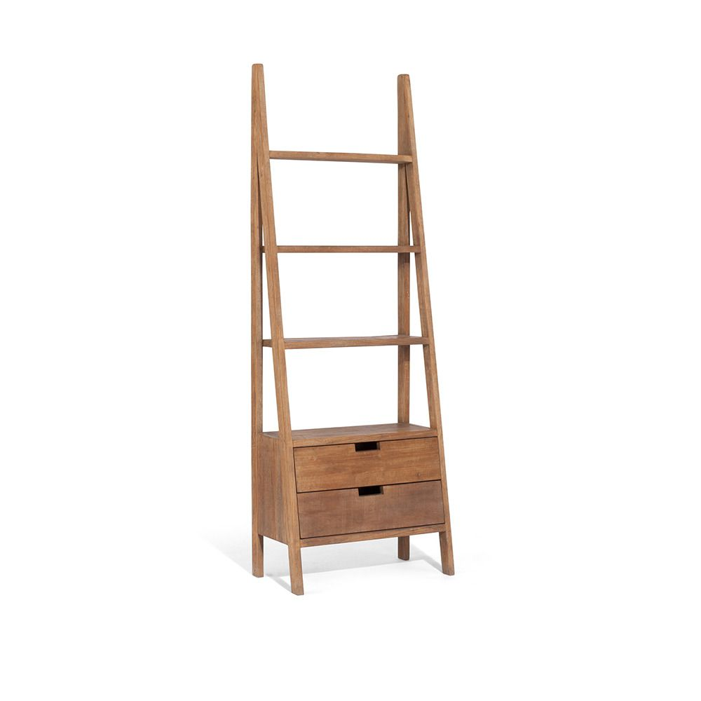 Sumatra Ladder Bookcase With Drawers Ladder Bookcase Bookcase
