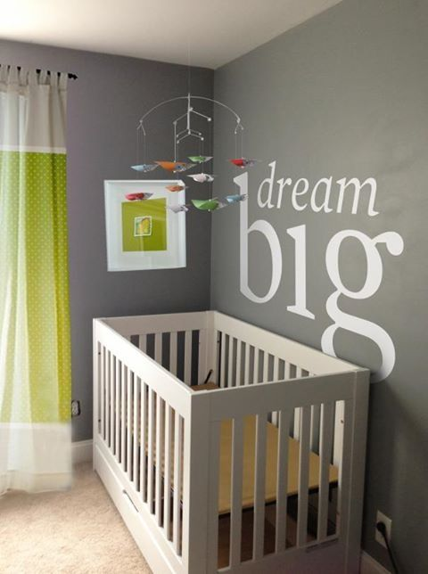 Baby Room Idea Name Or Quote Above Crib Ideas