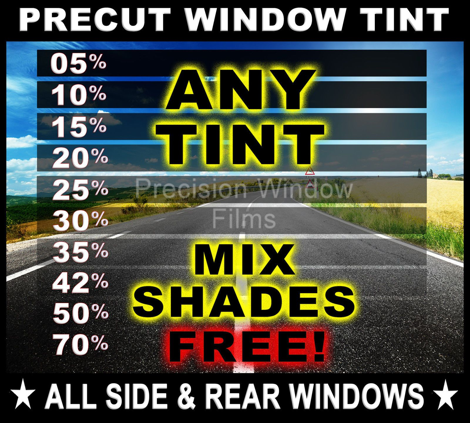 Cool Awesome Precut All Sides Rears Window Film Any Tint Shade For Toyota Car Glass 2017 2018 Check More At Http 24auto Window Film Auto Glass Rear Window