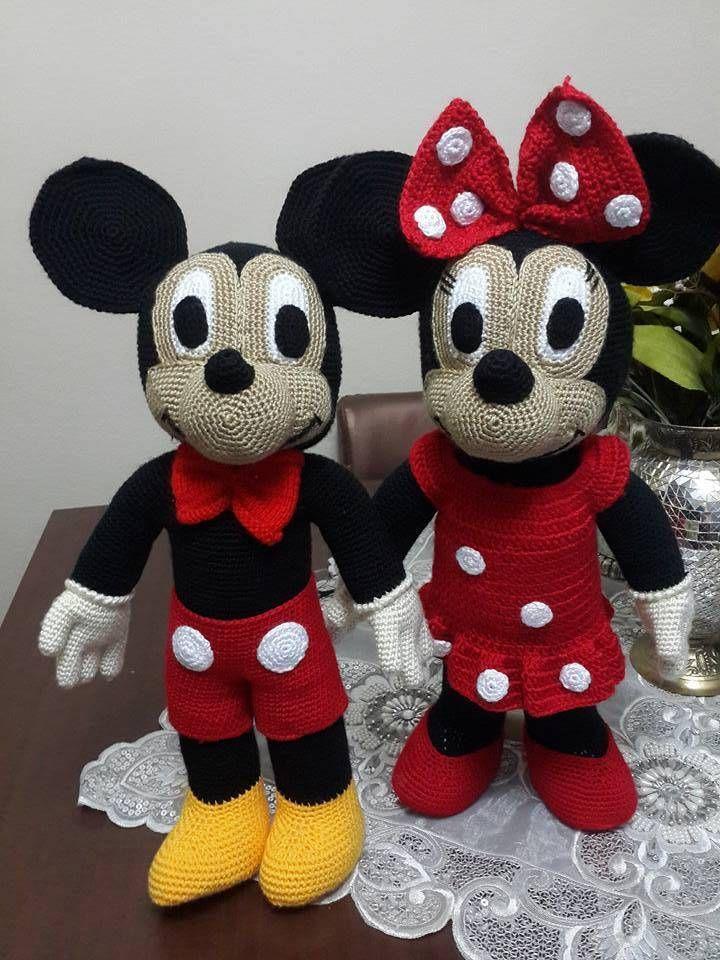 Amigurumi Mickey Mouse (Miki Mause) Yapılışı   Amlgurami teknlgi ...
