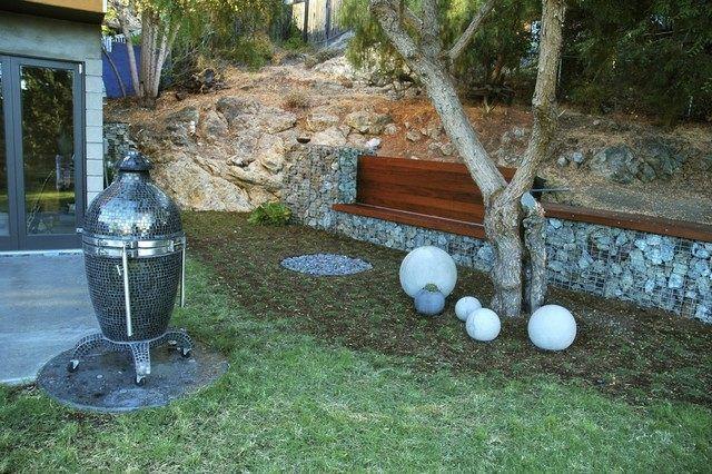 steingarten anlegen ideen beispiele gabione integrierte, Gartenarbeit ideen