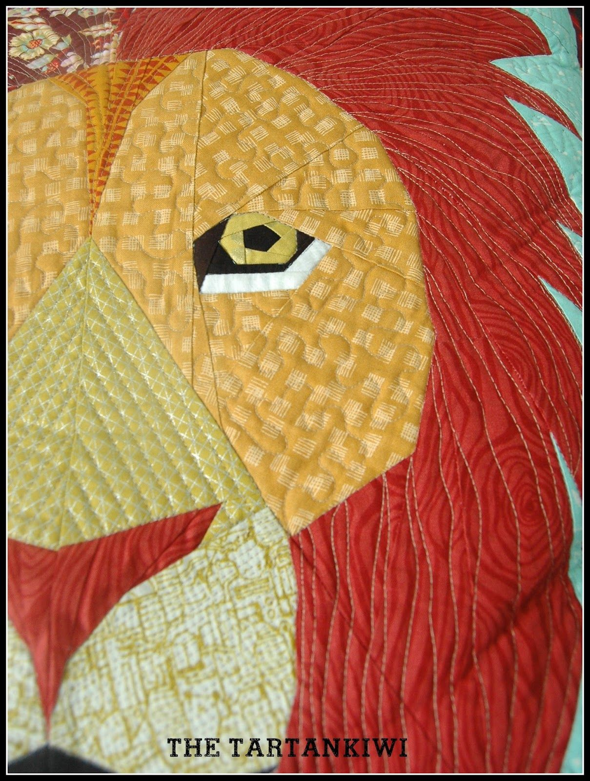 The Tartankiwi took up the 2015 Pantone Quilt Challenge hosted by ... : lion quilt pattern - Adamdwight.com