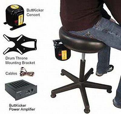 New Buttkicker Dtm Kit Concert Drum Throne Rig Drum Throne Drums Drummer