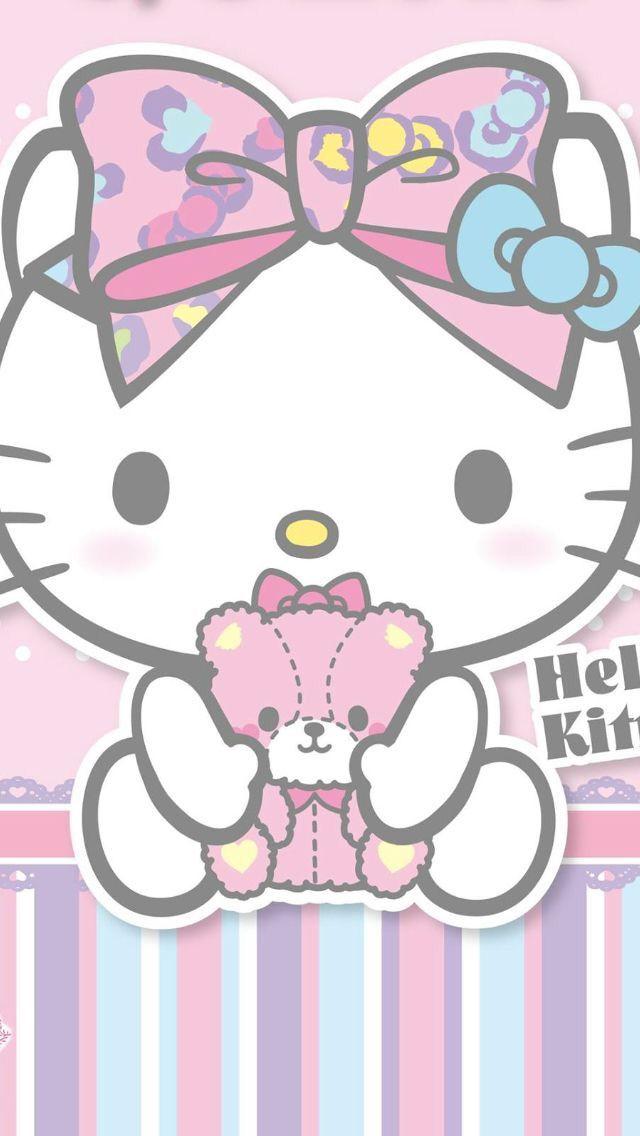 ป กพ นโดย Genie Calo ใน Hello Kitty วอลเปเปอร น าร ก ลายด เด ล วอลเปเปอร ด สน ย