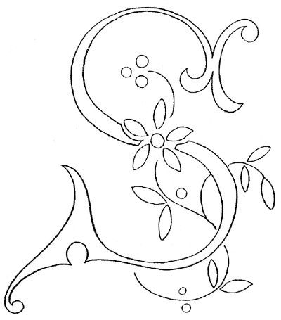 Monogram for Hand Embroidery: Letter B