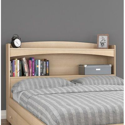 Red Barrel Studio Reg Brook Hollow Full Bookcase Headboard Bookcase Headboard Headboard Storage Headboard With Shelves