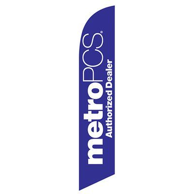 NeoPlex Metro PCS Authorized Dealer Swooper Flag