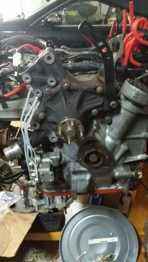Water Pump Installed With Omp Lines Rx7