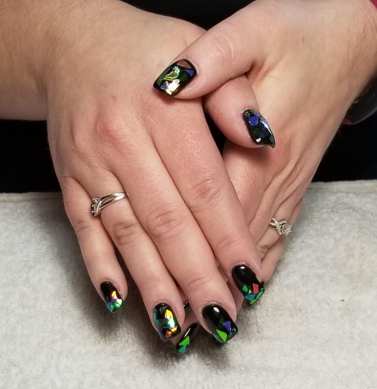 Stained Glass Nail Art: Glass Nails, Glass Nails Art