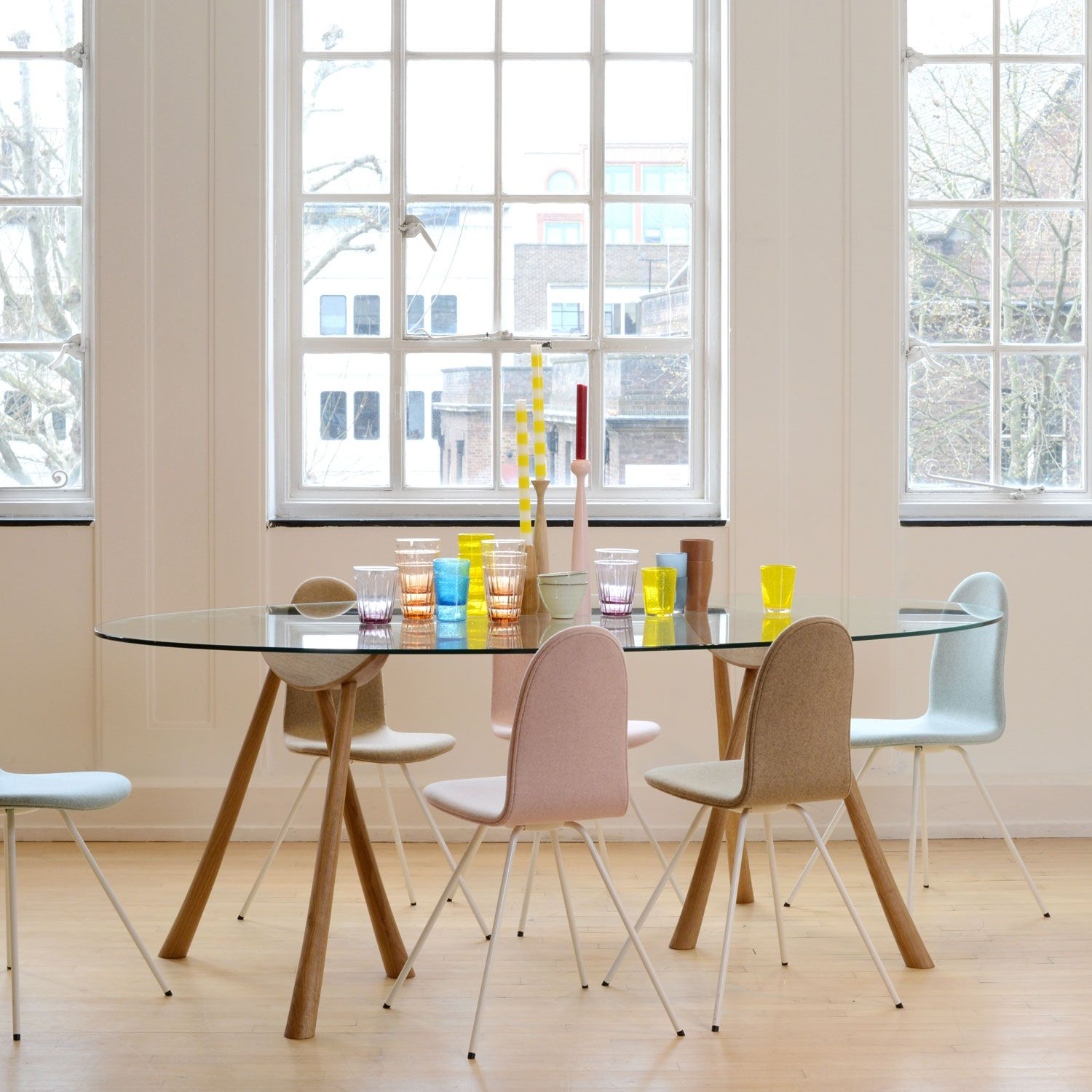 Polyfox Trestle Table And Tongue Chairs At Heals Looking Fresh