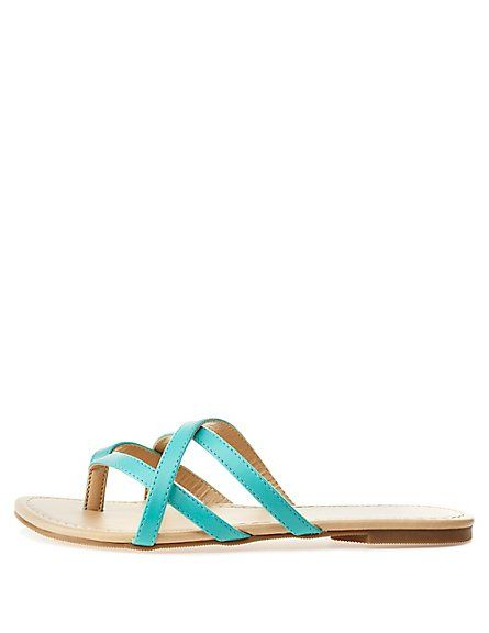 074bf02444eda0 City Classified Crisscross Strappy Thong Sandals  Charlotte Russe   CRshoecloset  sandals