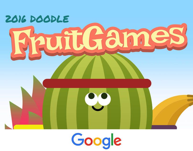 "Check out this Behance project ""Google Doodle Fruit"