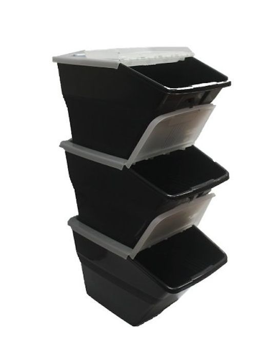 Stackable Recycle Bin 3 Kitchen Organizer Trash Pet Food Storage Container Lid $70 Ebay  sc 1 st  Pinterest & Stackable Recycle Bin 3 Kitchen Organizer Trash Pet Food Storage ...