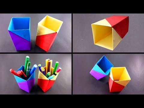 how to make a easy paper pen holder at home diy paper crafts