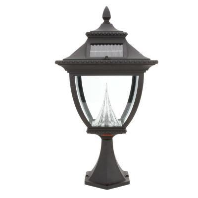 Gama Sonic Pagoda Solar Black Outdoor Led Post Light On Pier Base Gs 104p Led Outdoor Lighting Solar Lamp Post Lights