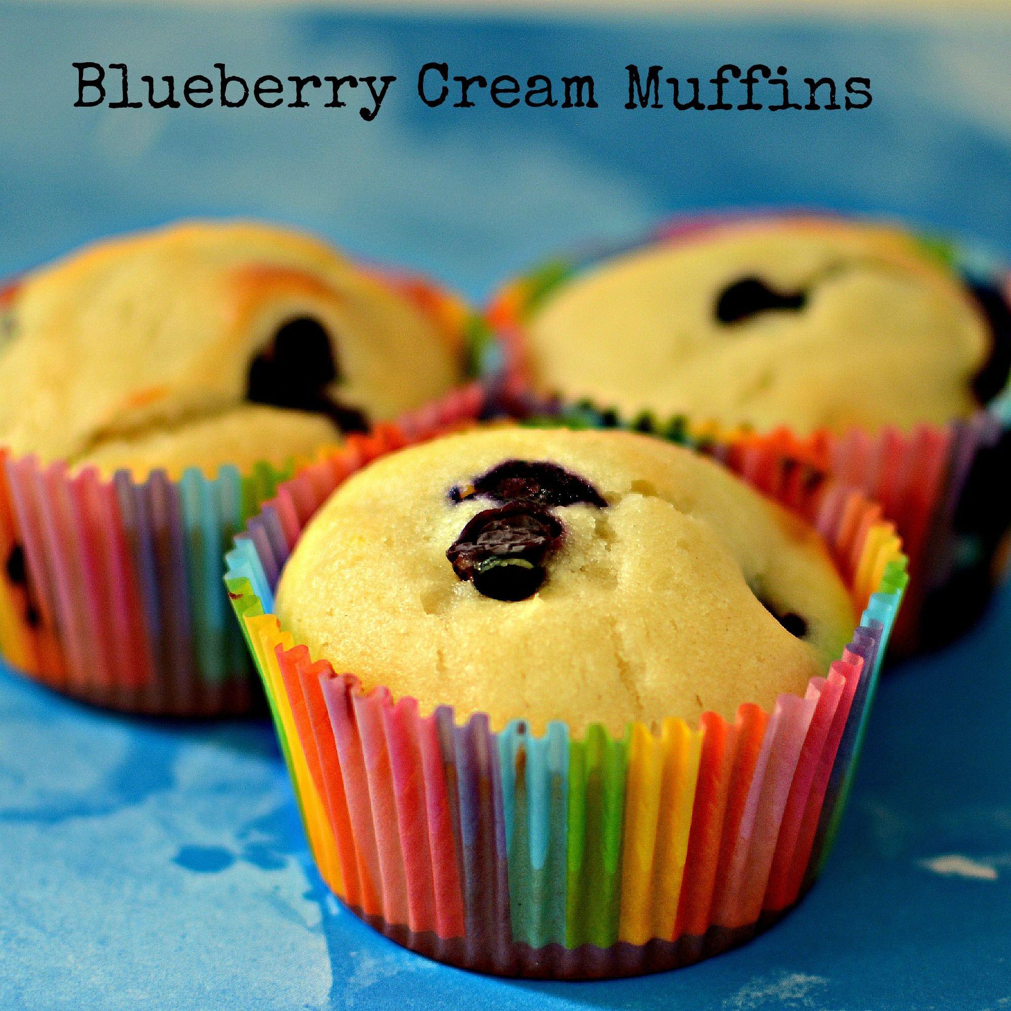 Blueberry Cream Muffins Recipe Best Cake Recipes Sour Cream Muffins Desserts