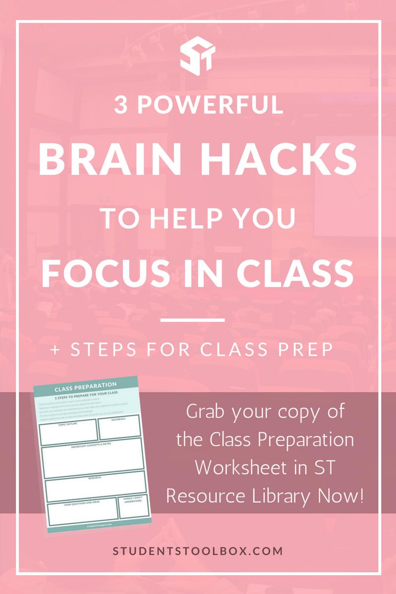 3 Powerful Brain Hacks To Help You Focus In Class Students Toolbox School [ 1200 x 800 Pixel ]