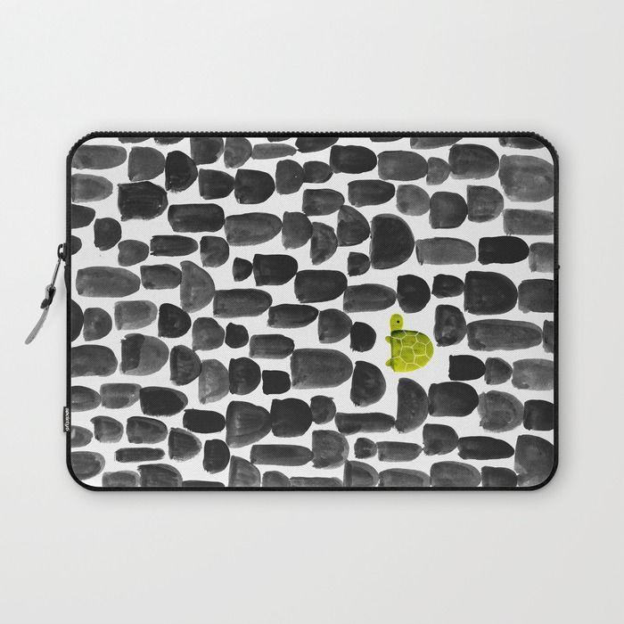 Turtle in Stone Garden Laptop Sleeve