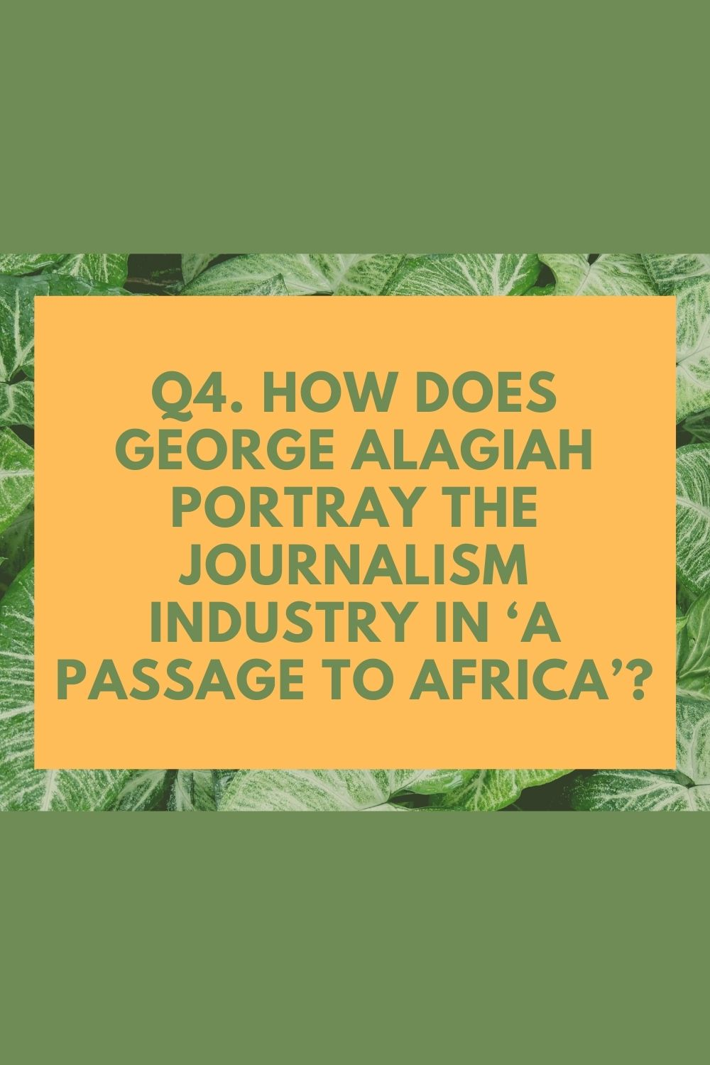 A Passage To Africa By George Alagiah Analysi And Free Essay Sample In 2021 Question About African American History Child