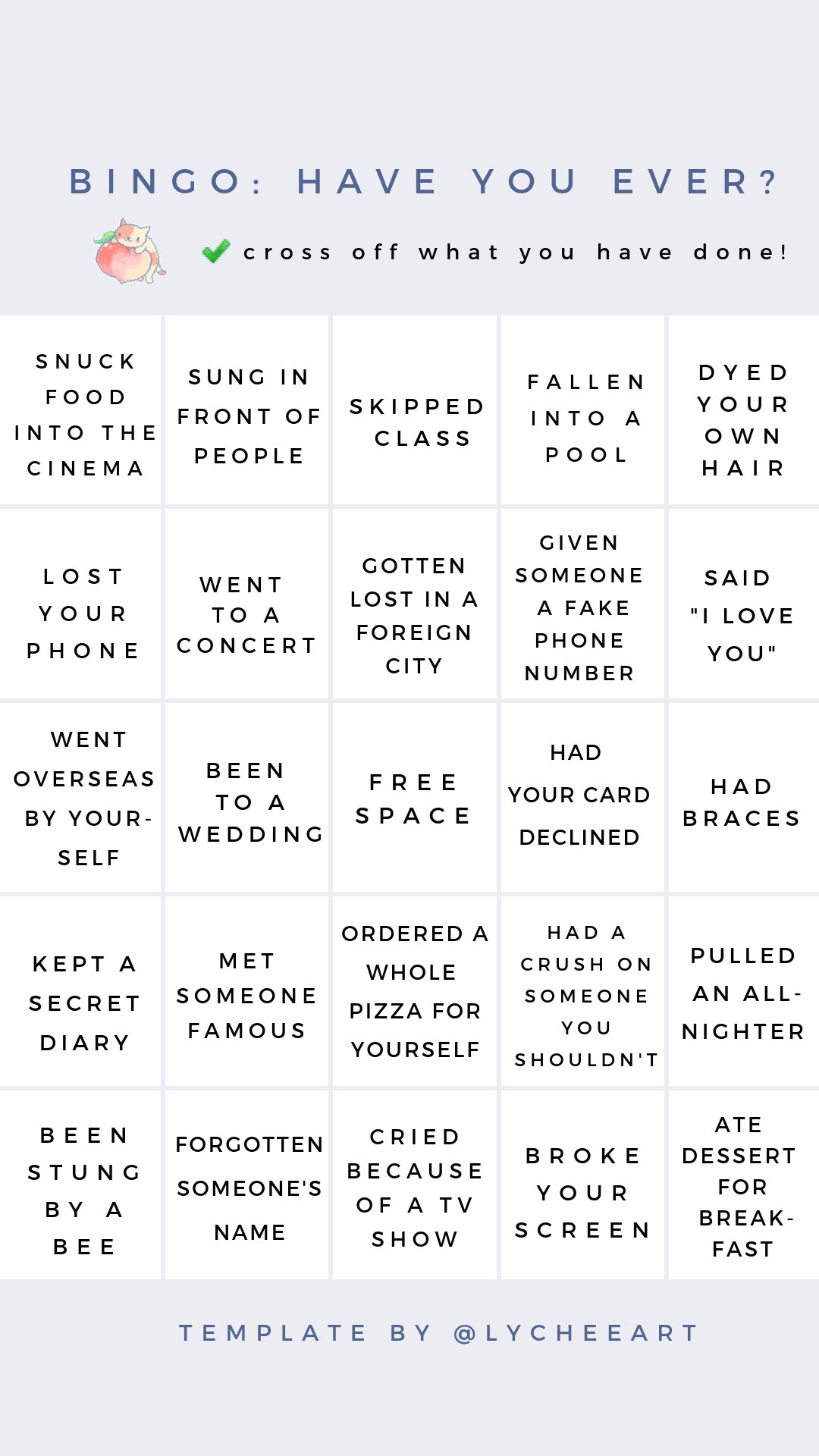 Bingo Have You Ever For More Templates Head To