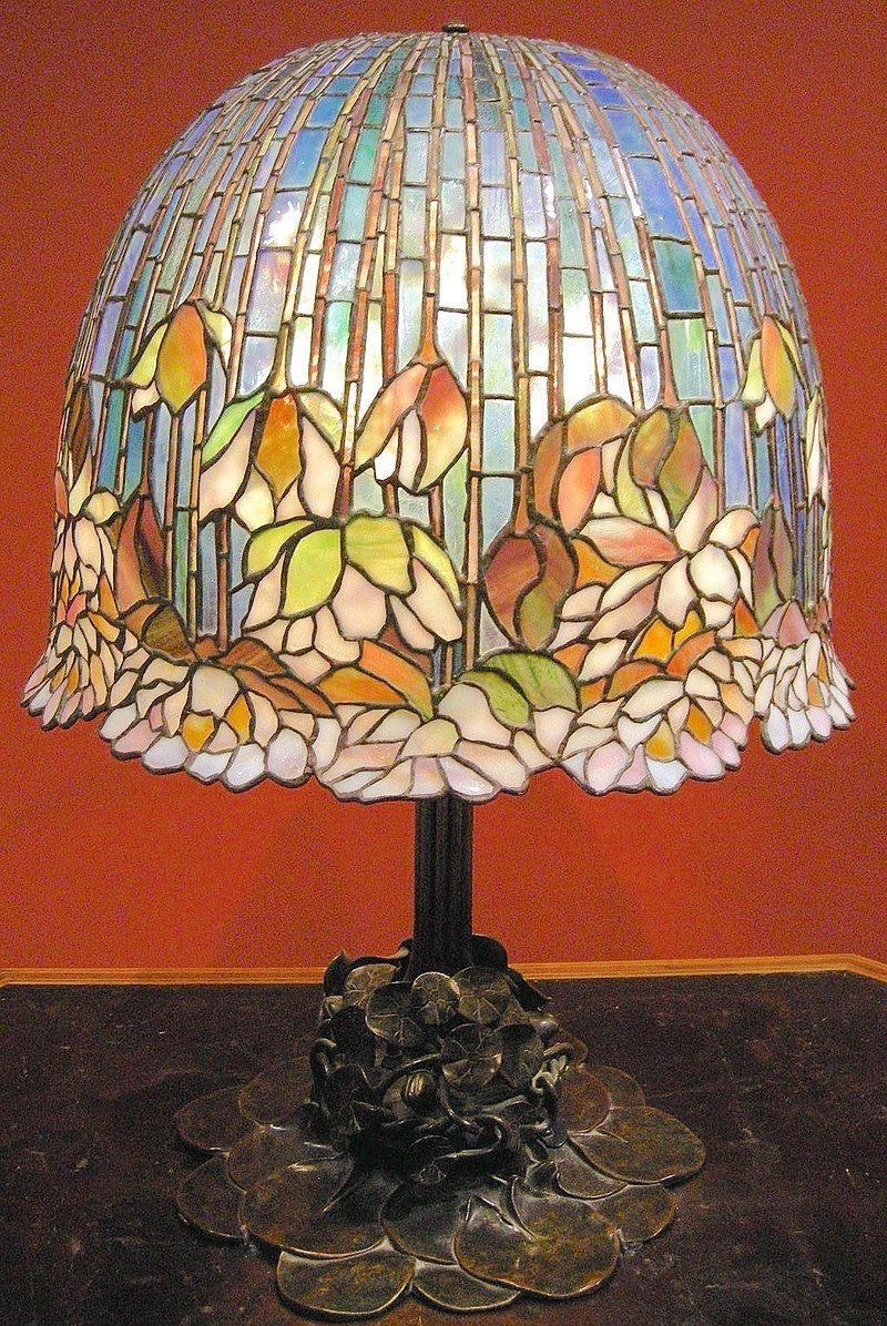 Lampara De Louis Comfort Tiffany 1900 1910 Glass Art Tiffany Lamps Tiffany Style Lamp