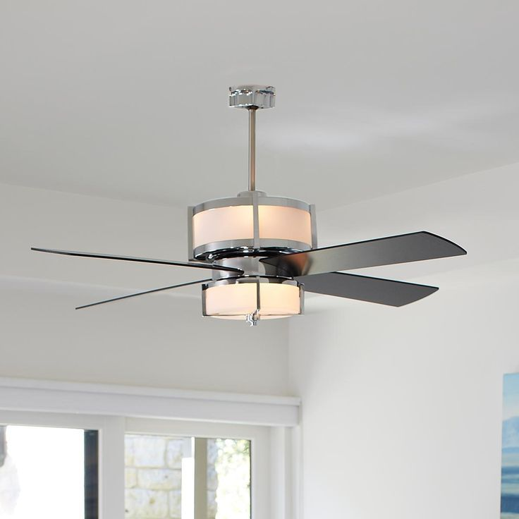Upscale Modern Ceiling Fan   2 Finishes   Shades Of Light