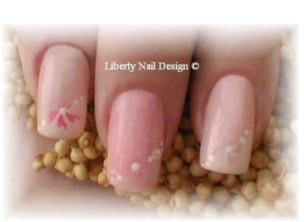 Airbrushed pink fancy french manicure using pink blossom from airbrushed pink fancy french manicure using pink blossom from medea airbrush nail art paints prinsesfo Choice Image