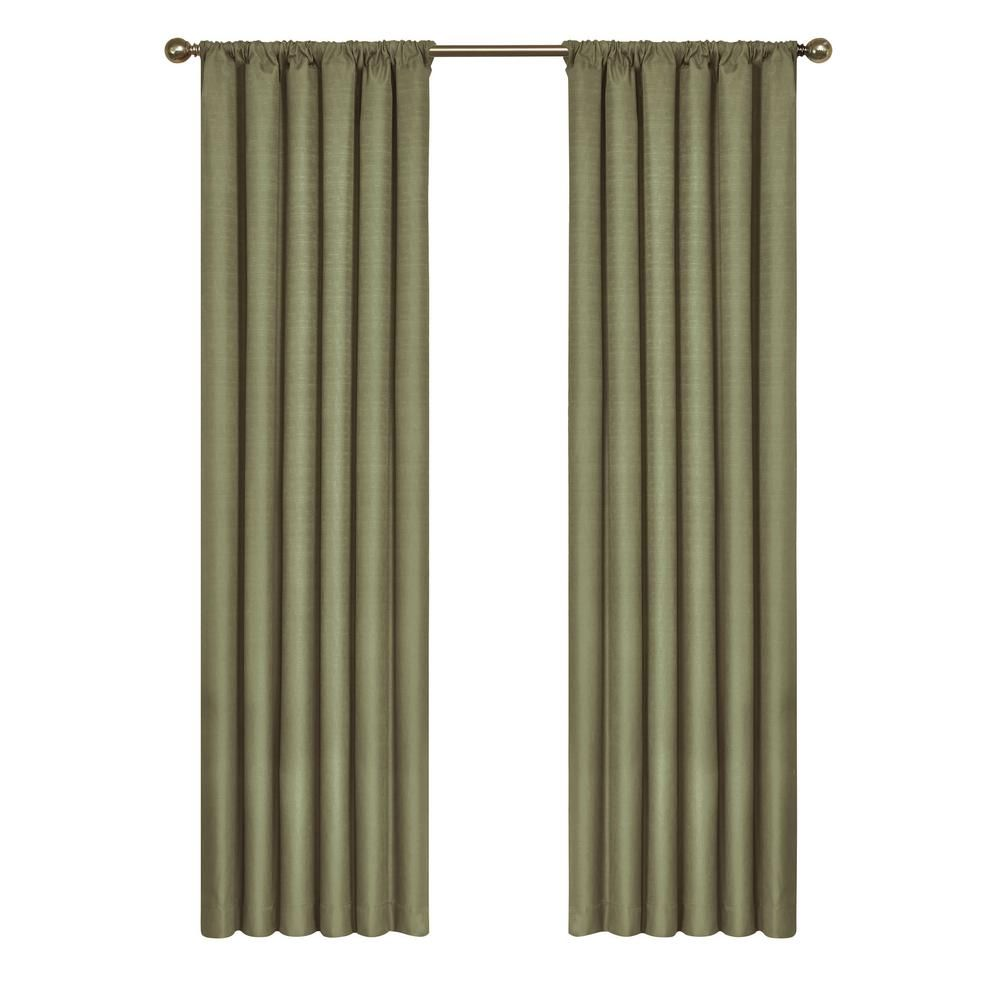 Eclipse Kendall Blackout Window Curtain Panel In Artichoke 42 In
