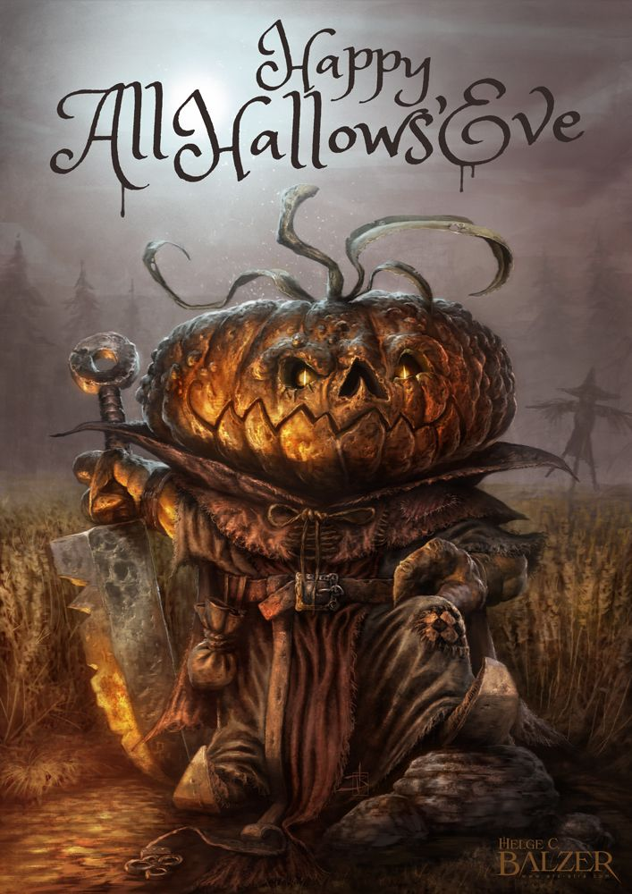 Happy All Hallows Eve By Helgecbalzer On Deviantart Halloween Artwork Halloween Art Halloween Pictures