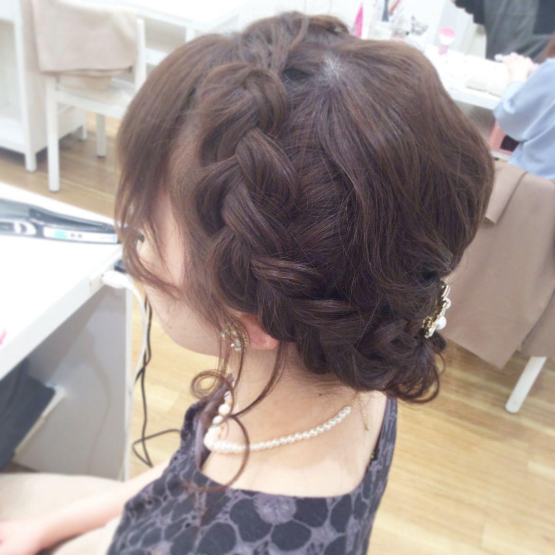 Wedding hair styles ウェディング ヘアスタイル 編み込み