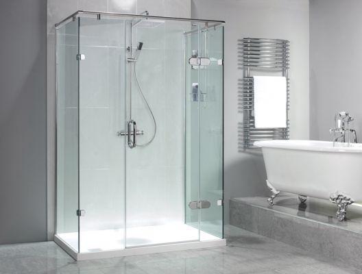 Sculptures Hinged Door 3 Panels Shower Enclosure Our Sculptures Hinged Door With Inline Pa Bathroom Wall Panels Shower Enclosure Luxury Shower Enclosures