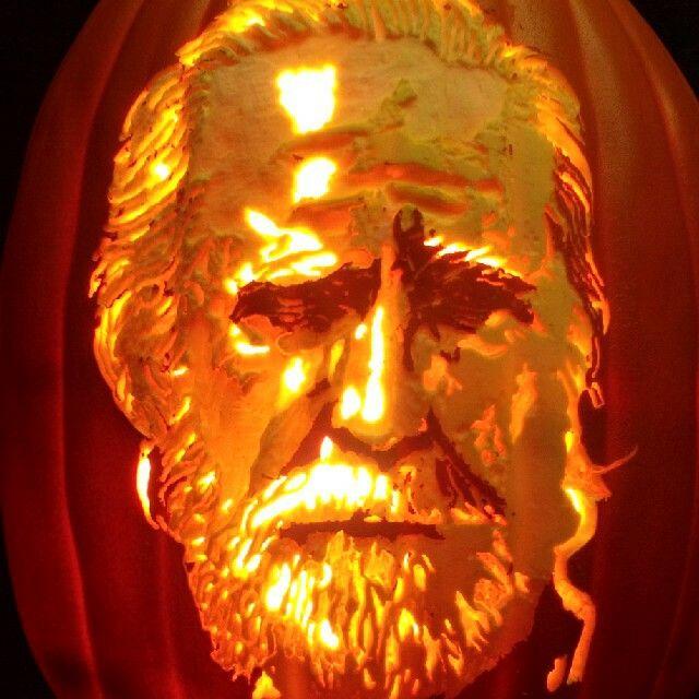 Hershel Greene As Played By Scott Wilson Pumpkins Carved