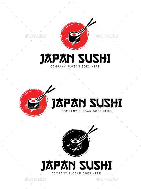 Japan Sushi Logo — Vector EPS #professional #modern • Download ➝ https://graphicriver.net/item/japan-sushi-logo/19780125?ref=pxcr