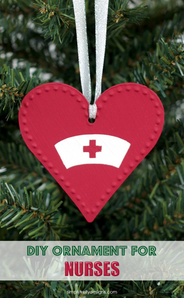 create this easy diy christmas ornament for nurses as a gift