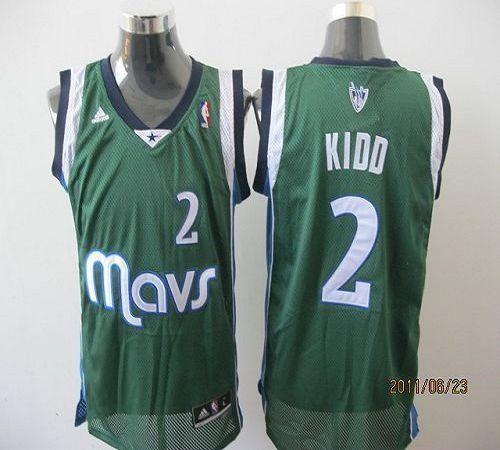 c07c04720 Mavericks  2 Jason Kidd Green Revolution 30 Stitched NBA Jersey ...