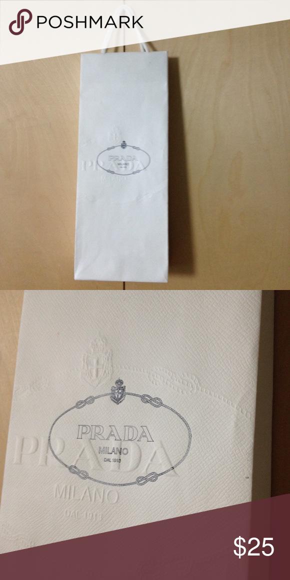 daa858985c61 Prada paper shopping bag long narrow small Prada paper shopping bag long  narrow small Prada Other
