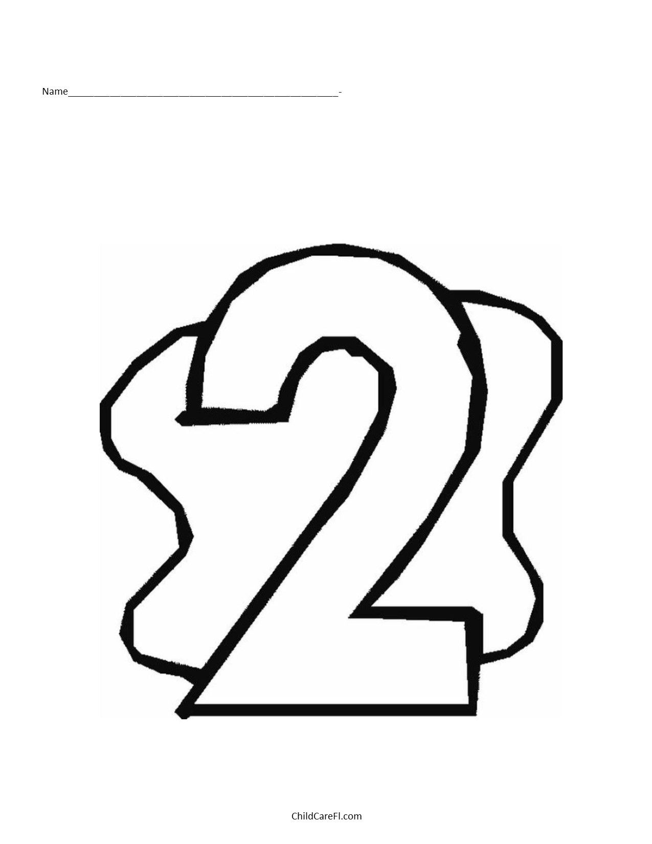 Number 2 Coloring Pages Color Number 2