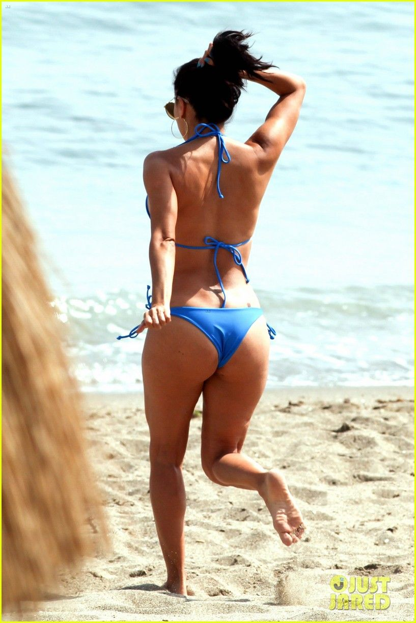 eva longoria bikini spain global gift fund 15 Eva Longoria is gorgeous as  usual as she hits the beach in a tiny blue bikini on Friday (July 3) in  Marabella, ...