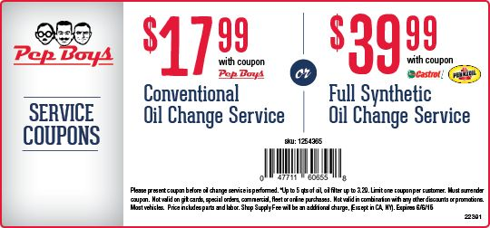 Oil Change Coupons 2015 >> Span Class Light Pep Span Boys Conventional Oil Change Coupon