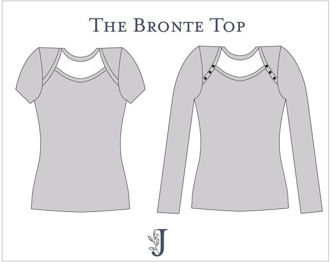 Bronte Knit Top Ladies PDF Sewing Pattern Multi Size 6 to 24 ...