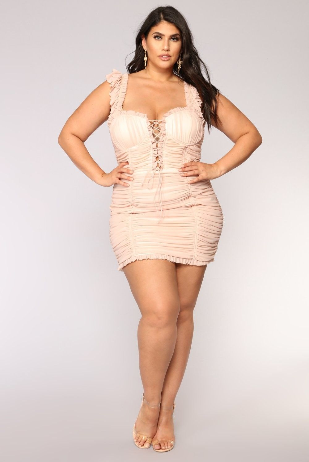 de599f66f4 Plus Size Ruff Around The Edges Ruched Dress - Mauve  54.99  fashion  ootd   outfit  oufits  moda  plussize  dress  dresses  plussizeclothing   plussizedress ...