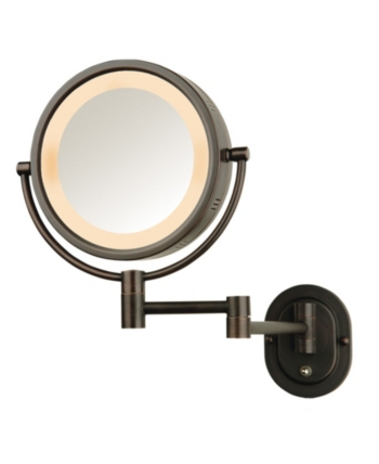 The Jerdon Hl65bzd 8 Lighted Wall Mount Direct Wire Makeup Mirror